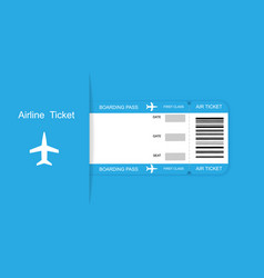 airline travel boarding pass ticket vector image