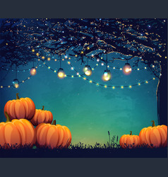 Autumn holiday poster vector