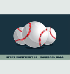 baseball ball icon game equipment professional vector image