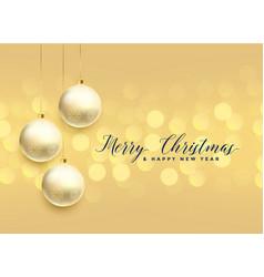 beautiful christmas ball decoration bokeh vector image