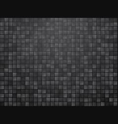 black checkered tiled background vector image