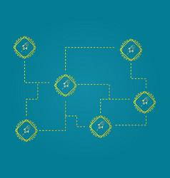 Blockchain stellar style network concept vector