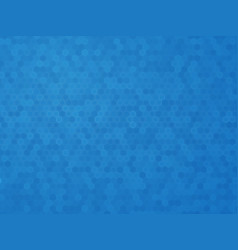 blue hexagon texture vector image