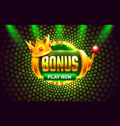 Bonus casino coin cash machine play now vector