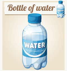 bottle of water cartoon icon vector image