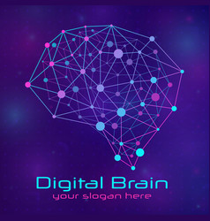 brain concept with medical vector image