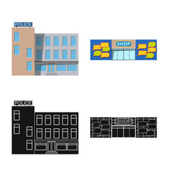 building and front symbol vector image