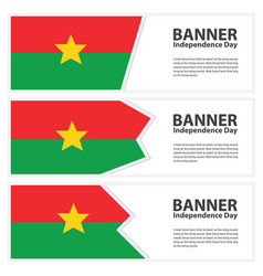 burkina faso flag banners collection vector image