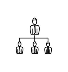 business organization icon vector image