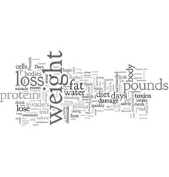 Can you safely lose pounds in days vector