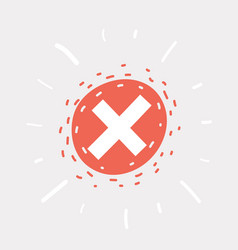 Cancel icon on white background vector