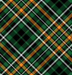 celtic fc diagonal green tartan seamless pattern vector image