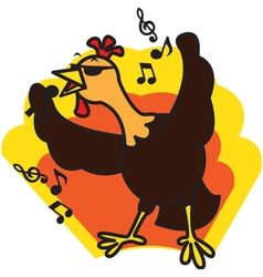 Chicken Sing vector image