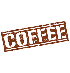 Coffee square grunge stamp vector