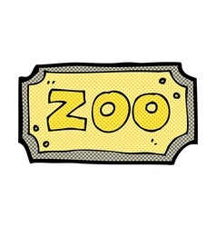 Comic cartoon zoo sign vector