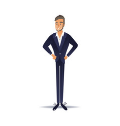 confident businessman in vector image