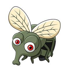Cute little flies cartoon vector