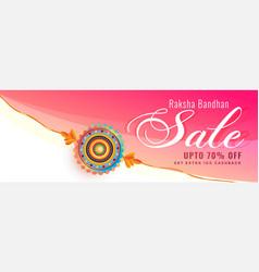 Decorative rakhi wristband sale banner for raksha vector