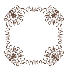decorative square frame vintage style for vector image