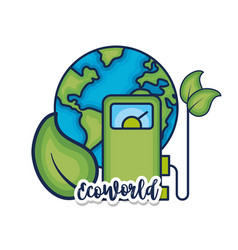 ecology earth planet to environment care vector image
