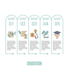 Education infographic template education vector