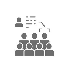 face recognition in crowd identification vector image