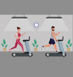 fitness exercise cartoon vector image