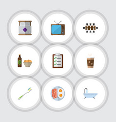 Flat icon lifestyle set of questionnaire vector
