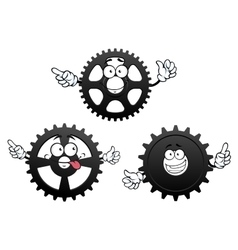 Funny cartoon cogwheels gears and pinions vector