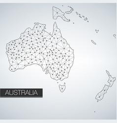 geometric australia continent light version vector image