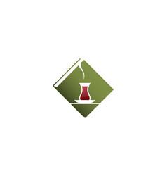 green cafe logo vector image