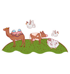 group of animals cartoon vector image