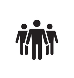 group people - black icon on white background vector image