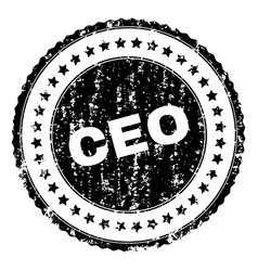 grunge textured ceo stamp seal vector image