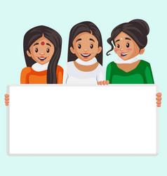 Indian women cartoon vector