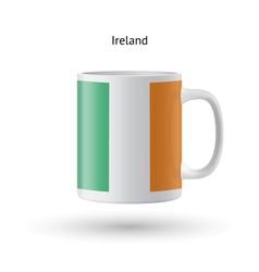 Ireland flag souvenir mug on white background vector