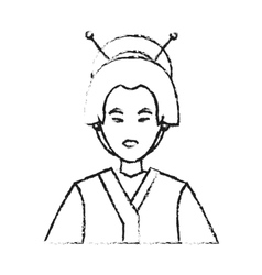 Isolated china woman design vector