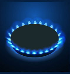 Isometric gas burner or hob on a black background vector