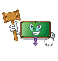 judge shape billiard table on wooden cartoon vector image