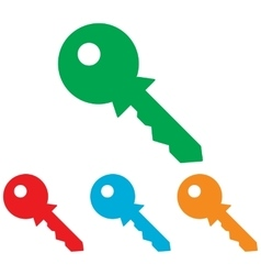 Key sign Colorfull set vector image