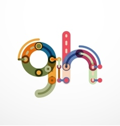 letter concept vector image