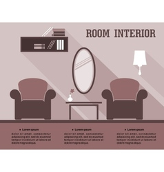 Living room interior infographic vector image