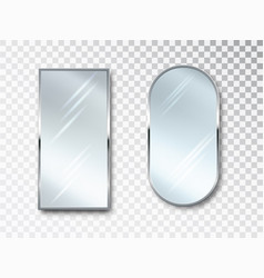 mirrors set isolated metal frames for decor vector image