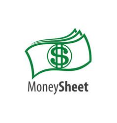 Money sheet logo concept design symbol graphic vector