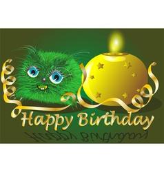 Monster wishes happy birthday vector
