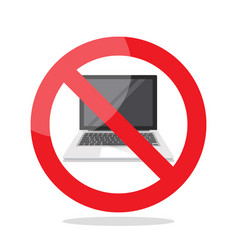 no laptop sign vector image