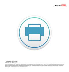 office printer icon hexa white background icon vector image