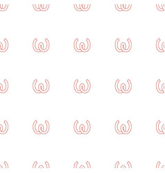 Omega icon pattern seamless white background vector