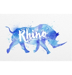 Painted animals rhino vector