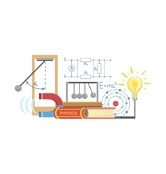 Physics Class Set Of Objects vector